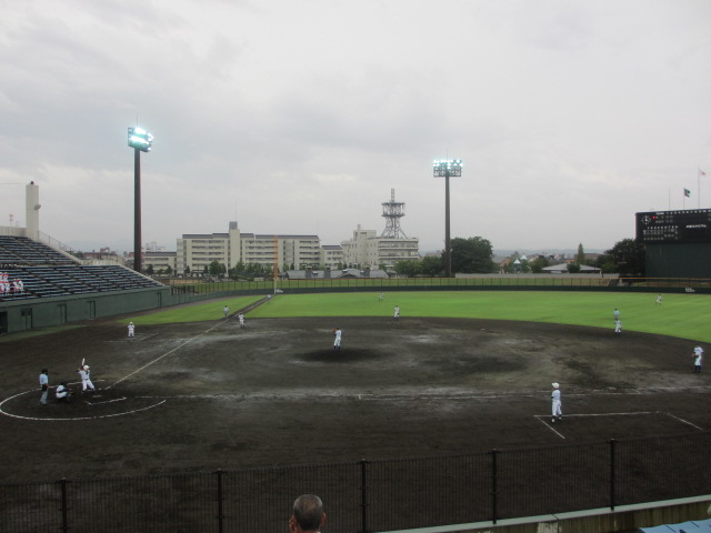 北信越高校野球石川県大会  航空vs泉丘 084