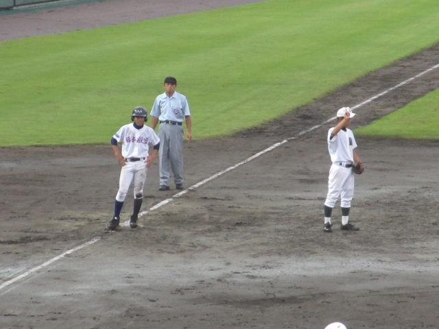 北信越高校野球石川県大会  航空vs泉丘 109