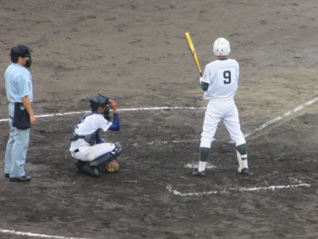 北信越高校野球石川県大会  航空vs泉丘 136