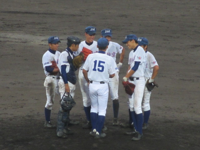 北信越高校野球石川県大会  航空vs泉丘 214