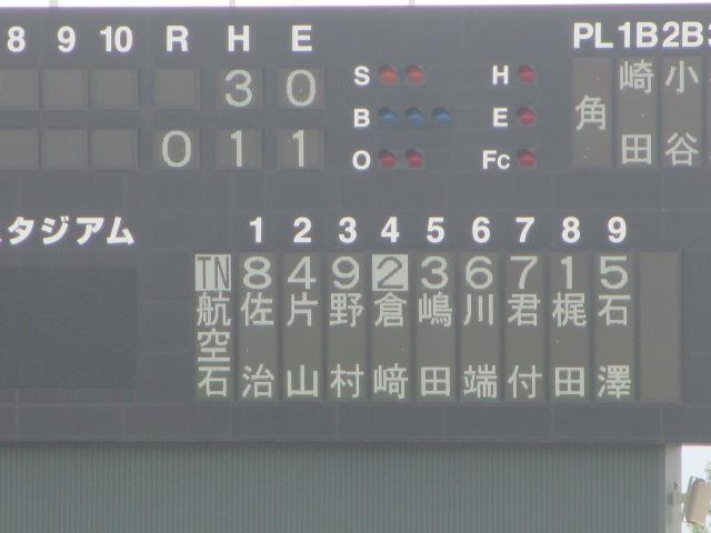 北信越高校野球石川県大会 三回戦 航空vs市工 101