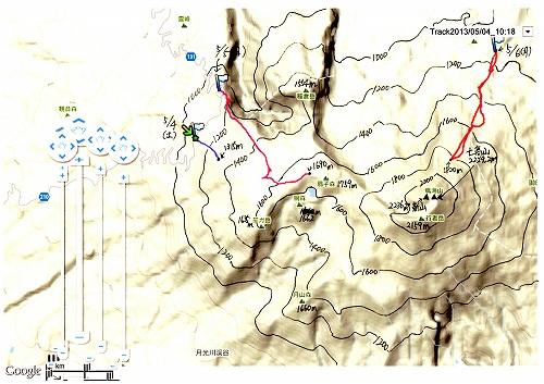 20130504~06鳥海山GPS