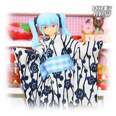 1/12DOLL 【手作り浴衣】 (着物) 服/武装神姫、figma、リボルテック、オビツ11、ピコニーモ