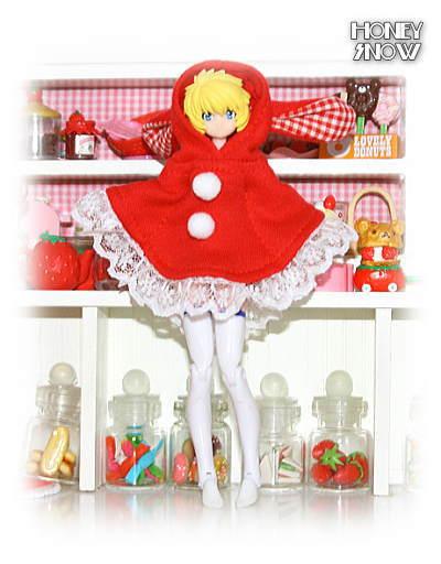1/12DOLL【フードポンチョ】クリスマスver 武装神姫、figma、リボルテック、オビツ11、ピコニーモ