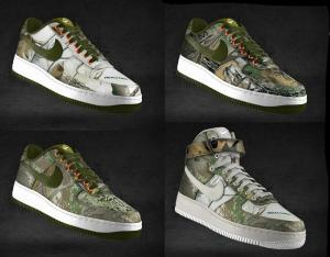 NIKE AIR FORCE 1 iD REALTREE CAMOUFLAGE
