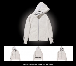 bape limited bounty hunter mad shark full zip hoodie