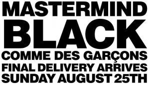 mastermind black COMME des GARCONS