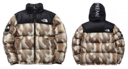 supreme north face 2013AW Fur Print Nuptse Jacket