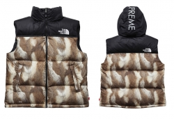 supreme north face 2013AW Fur Print Nuptse Vest