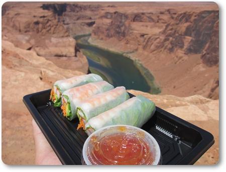 ホースシューベントでランチ,アメリカの生春巻き,ホースシューベントで食事,ホースシューベントピクニック