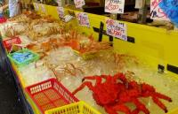 寺泊8魚の市場通りカニ
