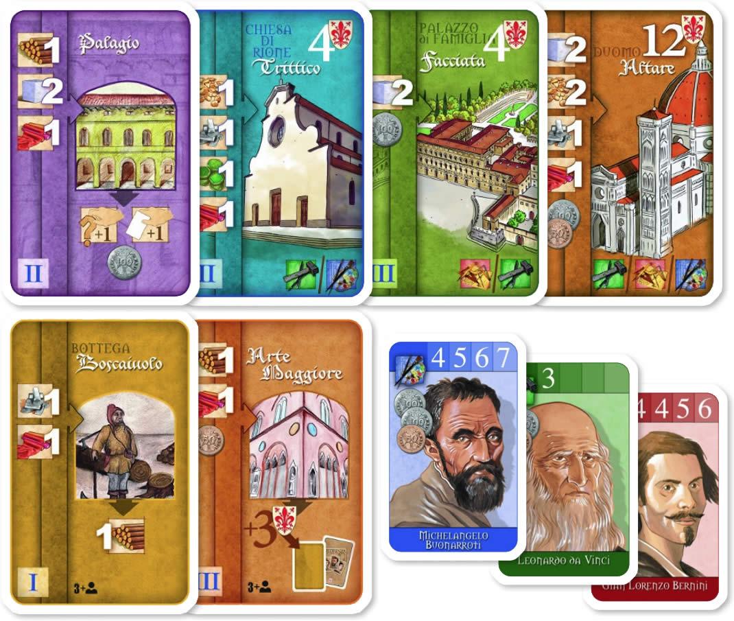 フロレンツァ・カードゲーム:カードイラスト