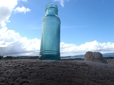 青い瓶を発見