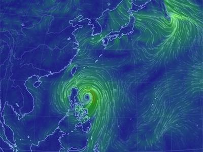 台風16号-2014年-風向き