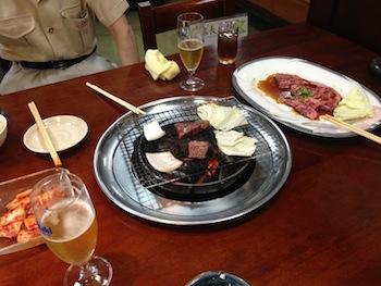 父と焼き肉