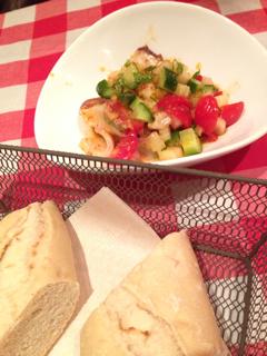 タコとセロリのピリ辛サラダ風