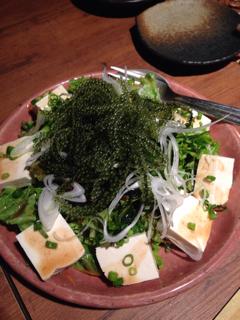海ブドウと島豆腐のサラダ