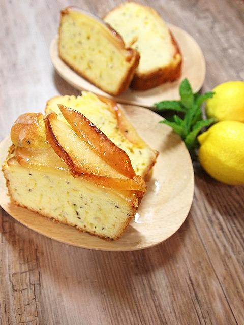 035リンゴと紅茶のパウンドケーキ