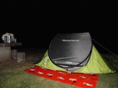 半元キャンプ場 テント夜中