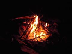 大平渓谷 焚き火