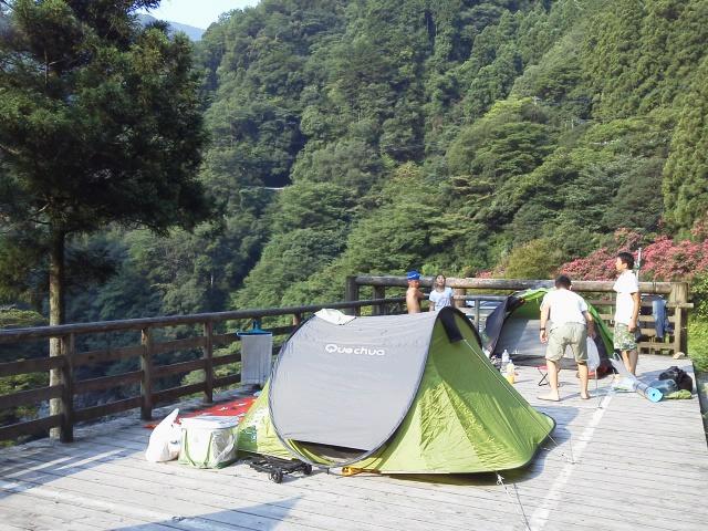 祖谷渓キャンプ村 テント撤収