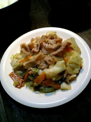 もやしと野菜と豚肉の中華炒め
