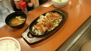東京チカラめし、味噌豚焼肉定食(並)3