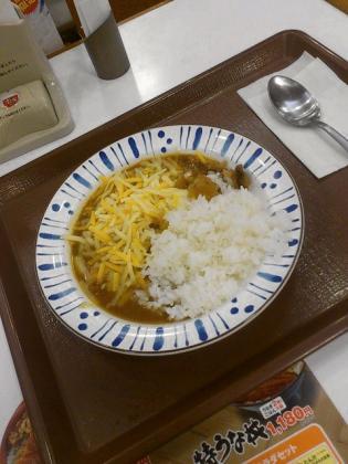 すき家、チーズカレーミニ(スパイシーチキンカレー)1
