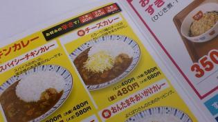 すき家、チーズカレーミニ(スパイシーチキンカレー)2