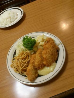 ミツワグリル、鮮魚フライ、ライス2