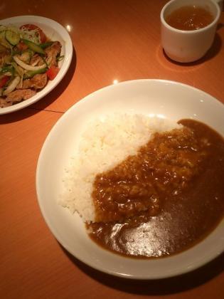 カレーハウスリオ、期間限定生姜焼きカレーセット3