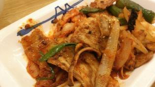 松屋、豚キムチ定食4