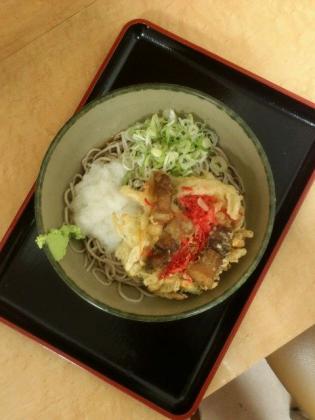 名代箱根そば、豚肉と紅生姜天おろし(冷しそば・うどん)2