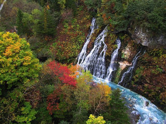 s-白ひげの滝、紅葉