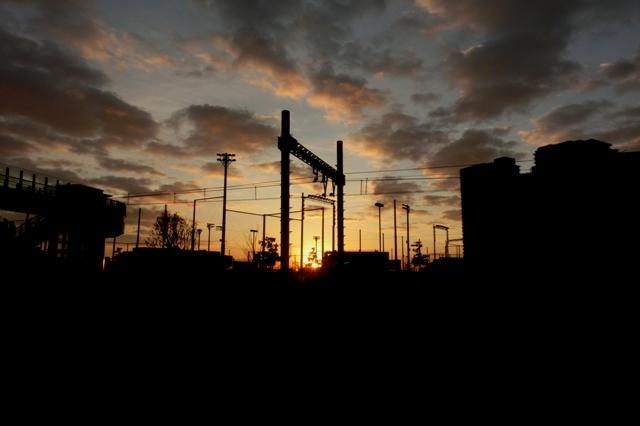 水際線公園の夜明け
