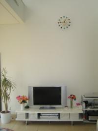 発表会のお花飾り TVボード2