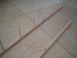階段下収納 釣竿収納作り 3