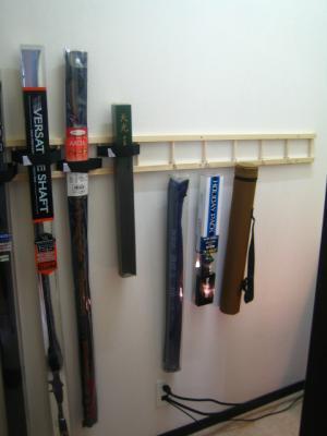 階段下収納 釣竿収納作り 完成2