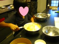 シフォンケーキ作り 息子