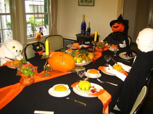 西洋館 ハロウィン テーブルコーディネート6