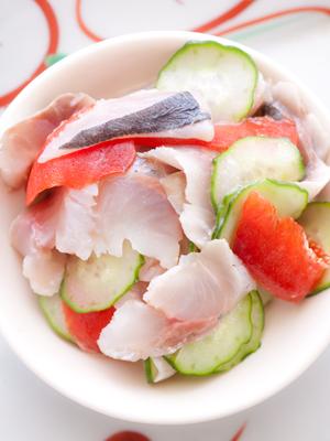 シメ鯵サラダ