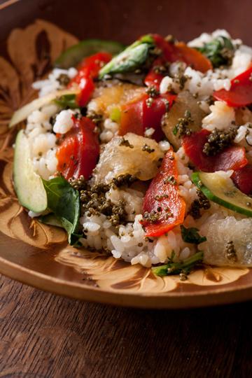 夏野菜の手こね寿司