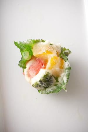 夏野菜モロヘイヤ天ぷら