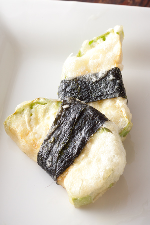 白茄子天ぷら