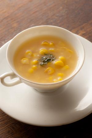 トウモロコシ味噌スープ