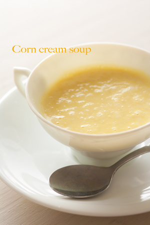 Corn cream soup1