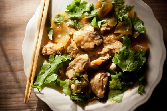 牡蠣炒め2