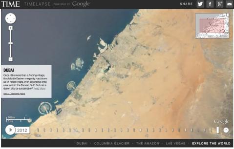 1984年から2012年、28年で地球の変化をGoogle Earthで