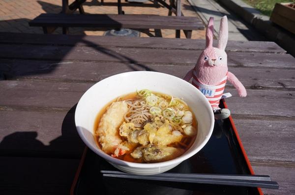 えびとマイタケの天ぷらそば