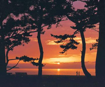 うつくしい慶の松原と夜景、②